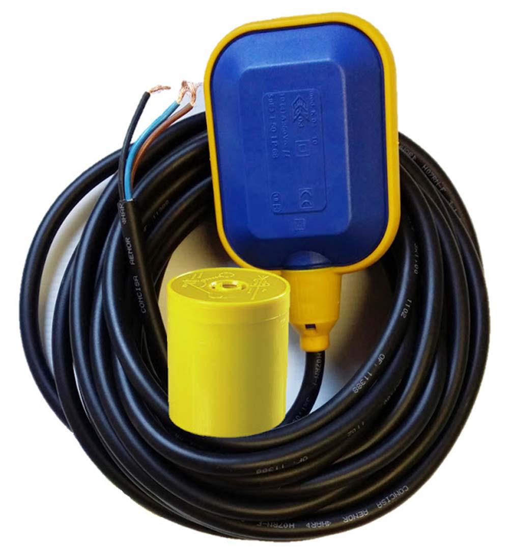 Phao điện MAC3, Model KEY, cáp PVC 5m, cho nước sạch