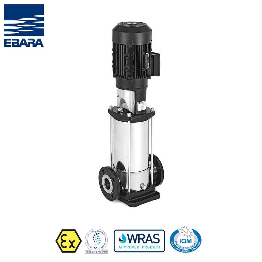 Bơm trục đứng Ebara, Model EVM, Lưu lượng: 1-90m3/giờ
