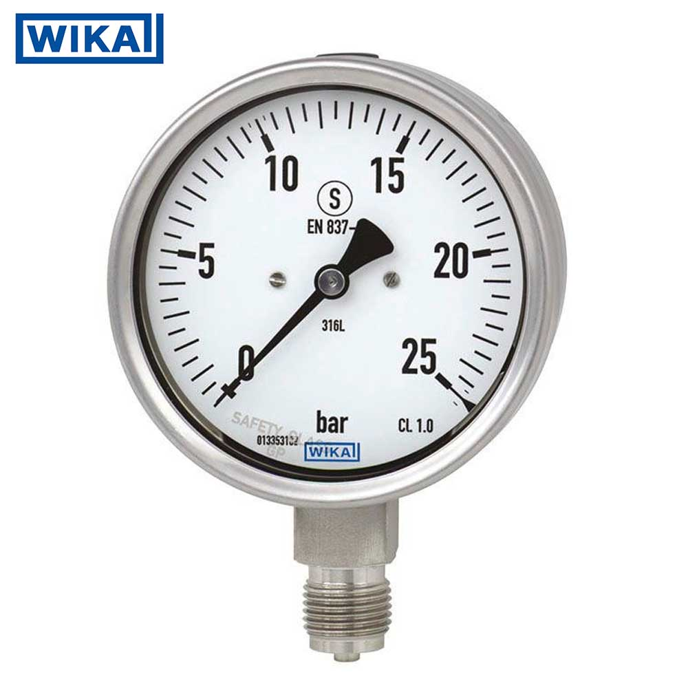 Đồng hồ áp suất Wika, Full Inox, Model 232.30