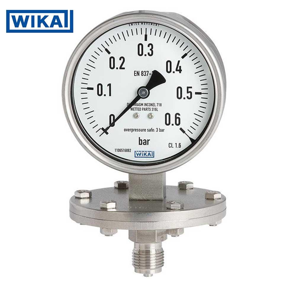 Đồng hồ áp suất dạng màng Wika, Full Inox, Model 432.50